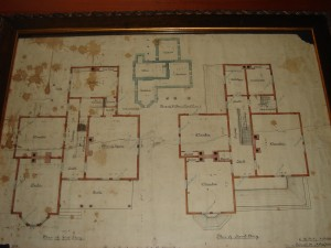 Architectural Plan for TS Calhoon Home dated 1852