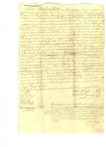 Deed for Georgetown Frances and John Finley Collection)