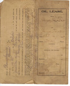 Oil Lease for George Nash dated 1904 (Anna L and John F Nash Collection)