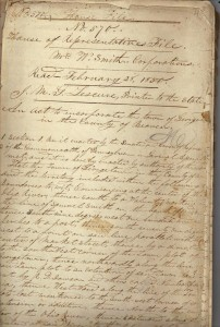 PA House of Representatives Act to incorporate Georgetown (France and John Finley Collection)