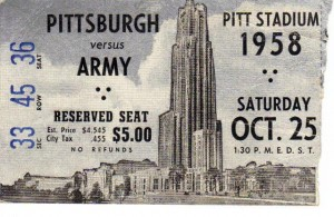Pitt vs Army on 25 Oct 1958 (F Nash Collection)