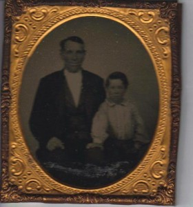 Jacob Poe and son Charles E ca 1860 (Frances and John Finley Collection)