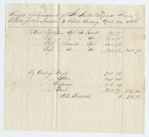 Str Kenton Receipt during Civil War (Ohio State University)