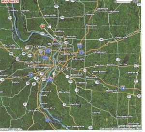 MapQuest of Alton, IL and St Louis, MO