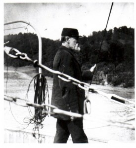 Capt Thomas S Calhoon making a landing (Photo courtesy of Murphy Library, University of Wisconsin - La Crosse)