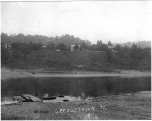 Ohio River at Georgetown from the north bank ca 1880 (Frances and John Finley Collection)