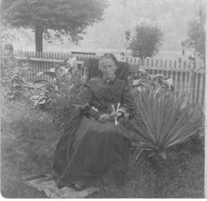 Nancy Ann (Poe) Ebert ca 1890 (Anna L and John F Nash Collection)