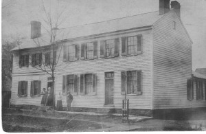 The Poe House with Charles E Poe on right ca 1910 (France and John Finley Collection).
