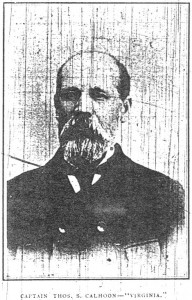 Thomas S Calhoon from the Pittsburg Bulletin dated Jan 5, 1899 (F Nash Collection)