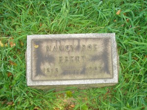Nancy poe Ebert Georgetown Cemetery (F Nash Collection)