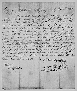 Str Kenton Bill of Sale dated 23 Oct 1861 (From the Collection of the UW La Crosse Murphy Libraray Special Collections)