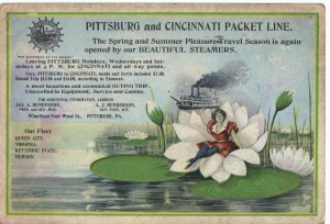 Pittsburgh Cincinnati Packet Line Postcard (F Nash Collection) 