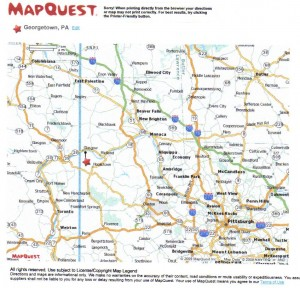 Georgeotwn, Beaver CO, PA MapQuest 2009