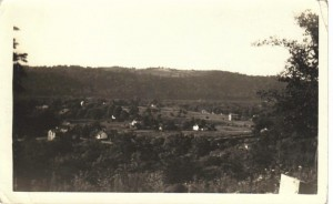 Georgetown from cemetery ca 1940