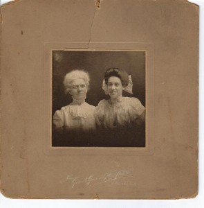 Annie Carson and Lillian May Poe ca 1910