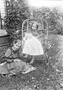 Lillian M Poe and friend ca 1900 GPN