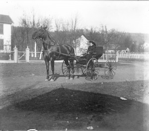 Lillian M Poe in carriage ca 1900 GPN