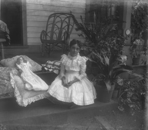 Lillian M Poe with doll ca 1900 GPN