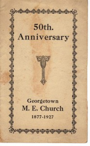 Georgetown ME Church 50th Anniversary Program (Anna L and John F Nash Collection)