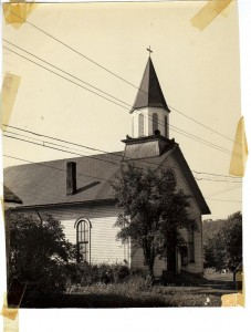 Georgetown Methodist Episcopal Church ca 1955 (Anna L and John F Nash Collection)