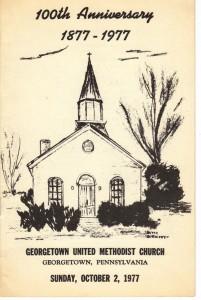 Georgetown United Methodist Church 100th Anniversary 1977