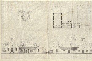 St Lukes Architectural Drawing (Anna L and John F Nash Colleciton)