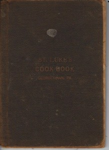 St Luke's Episcopal Church Cookbook published 1889 (Anna L and John F Nash Collection)
