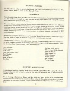 St Lukes History celebration invitation