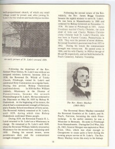St Luke's Episcopal Church 165th Anniversary History pg 18 (Anna L and John F Nash Collection)