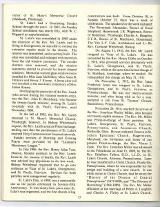 St Luke's Episcopal Church 165th Anniversary History pg 23 (Anna L and John F Nash Collection)