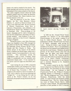 St Luke's Episcopal Church 165th Anniversary History pg 29 (Anna L and John F Nash Collection)