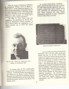 St Luke's Episcopal Church 165th Anniversary History pg 32 (Anna L and John F Nash Collection)
