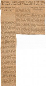 Billy Bryan and Charlie Poe Newspaper Clip (Anna L and John F Nash Collection)