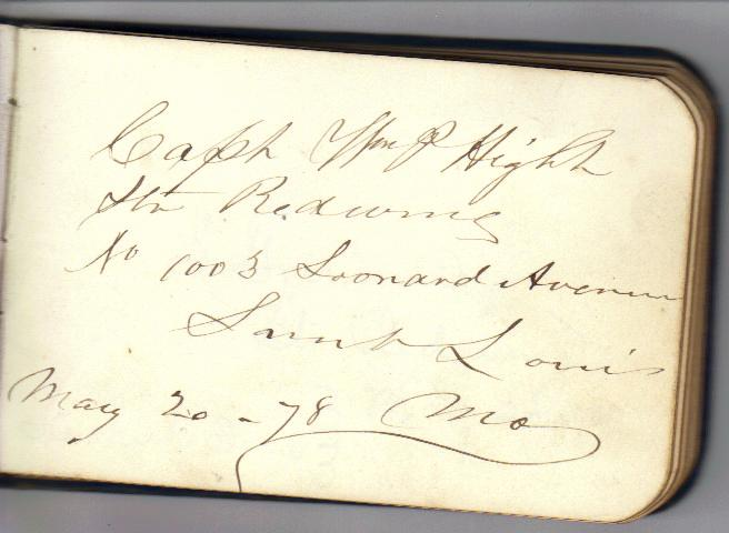 autograph book 1878 georgetown steamboats