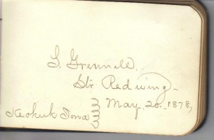 S Grennill Signature (Collcetion of Frances and John Finley)