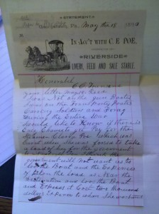 Jacob Poe Ltr 18 May 1890 (Courtesy of the National Archives)