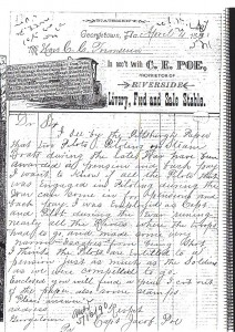 Jacob Poe Civil War Pension Request copy of (Anna L and John F Nash Collection)