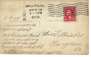 Postcard of Wellsville, OH 1915 (Anna L and John F Nash Collection)