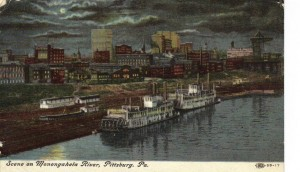 Monongahela Wharf Postcard 1908 (FNash Collection)