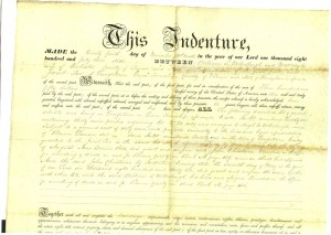 Deed Lot 21 1850 p2 (Frances and John Finley Collection)