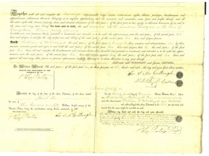 Deed Lot 21 1850 p3 (Frances and John Finley Collection)