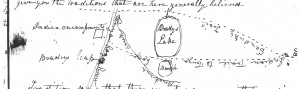 Brady's Leap Map (Draper Manuscripts at the Wisconsin Historical Society)