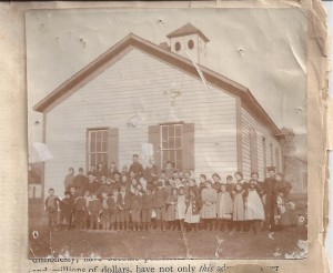 Georgetown School before 1902 (Anna L and John F Nash Collection)