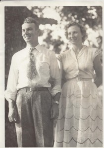 Anna L Welborn and John F Nash ca 1948 (Anna L and John F Nash Collection)